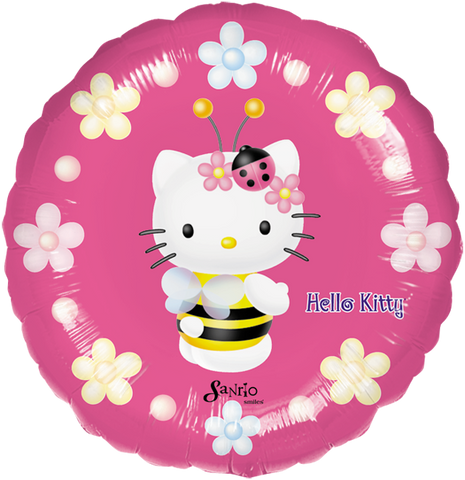 Hello Kitty Bee 18 Globo Metálico