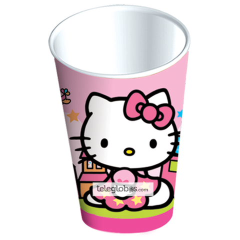 6 Vasos Desechables Fiesta de Hello Kitty