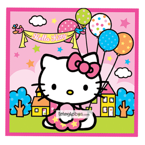 24 Servilletas Premium de Hello Kitty