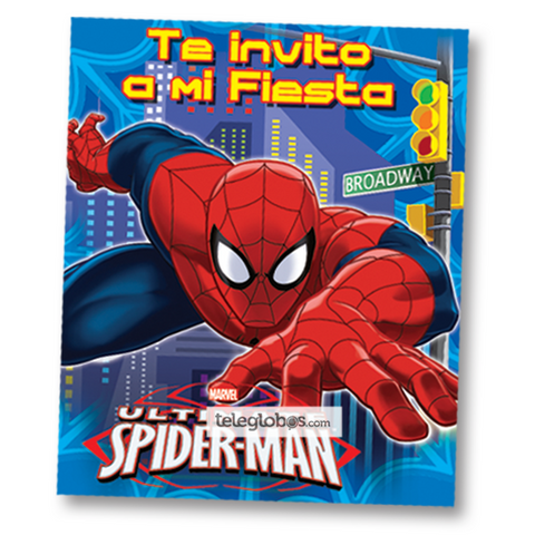 6 Invitaciones de Spider Ultimate