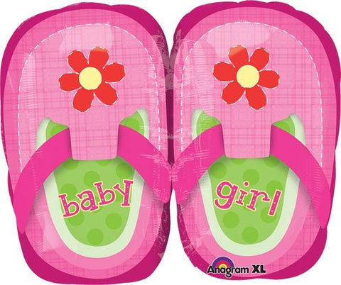 Baby Girl Pretty Pink Shoes 18 Pulgadas Globo Metálico