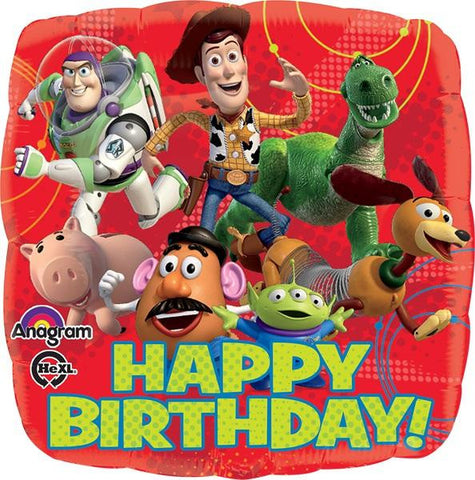 Toy Story Gang Happy Birthday 18 Pulgadas Globo Metálico