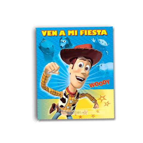 6 Invitaciones de Toy Story Woody