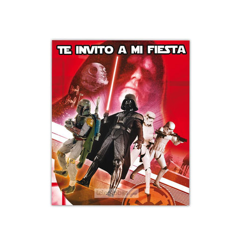 6 Invitaciones de Star Wars