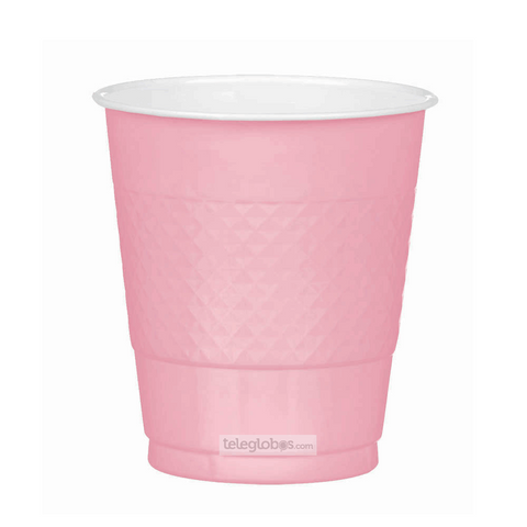 20 Vasos de Plastico Everyday Solidos Rosa Bebe