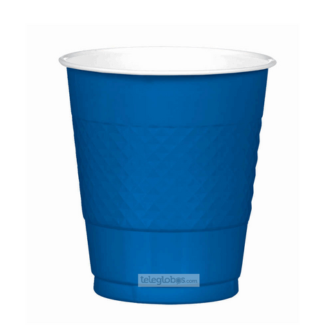 20 Vasos de Plastico Everyday Solidos Azul Rey