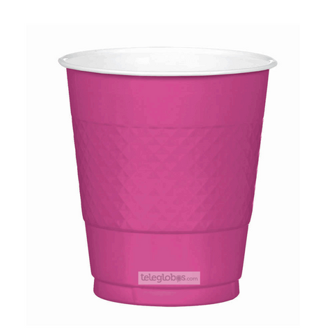 20 Vasos de Plastico Everyday Solidos Rosa