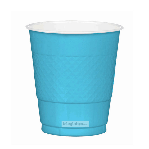 20 Vasos de Plastico Everyday Solidos Azul Caribe