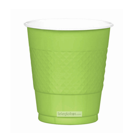 20 Vasos de Plastico Everyday Solidos Verde Kiwi