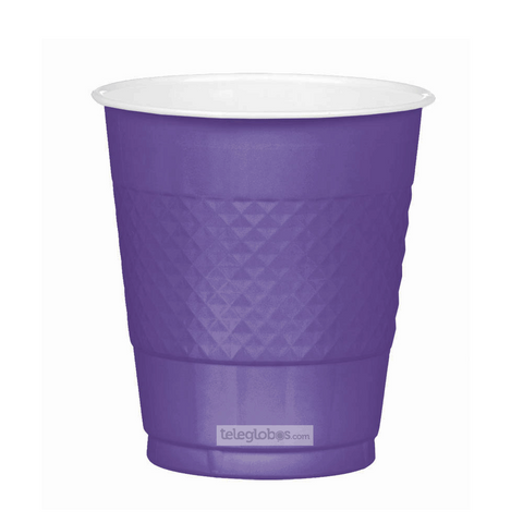 20 Vasos de Plastico Everyday Solidos Morado