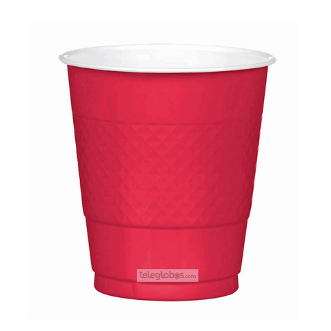 20 Vasos de Plastico Everyday Solidos Rojo