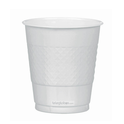 20 Vasos de Plastico Everyday Solidos Plata