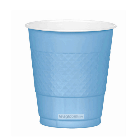 20 Vasos de Plastico Everyday Solidos Azul Cielo