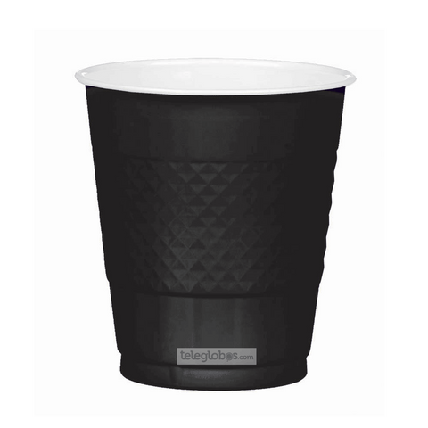 20 Vasos de Plastico Everyday Solidos Negro