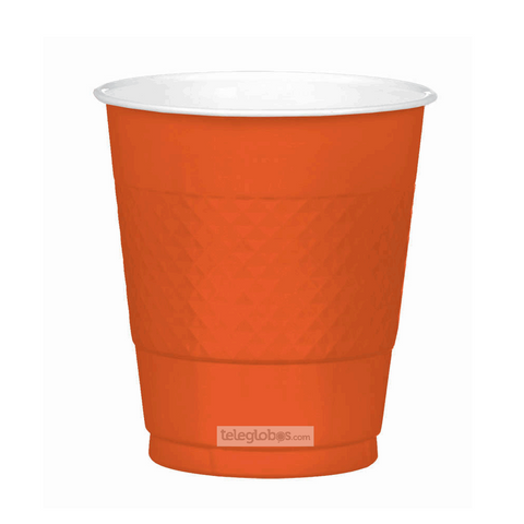 20 Vasos de Plastico Everyday Solidos Naranja