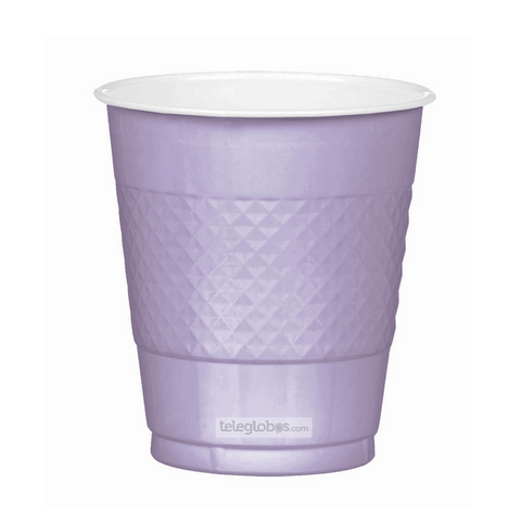 20 Vasos de Plastico Everyday Solidos Lavanda