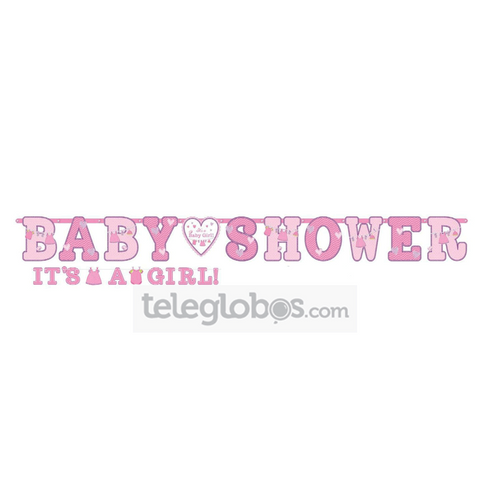 2 Banner Personalizables Shower With Love Girl