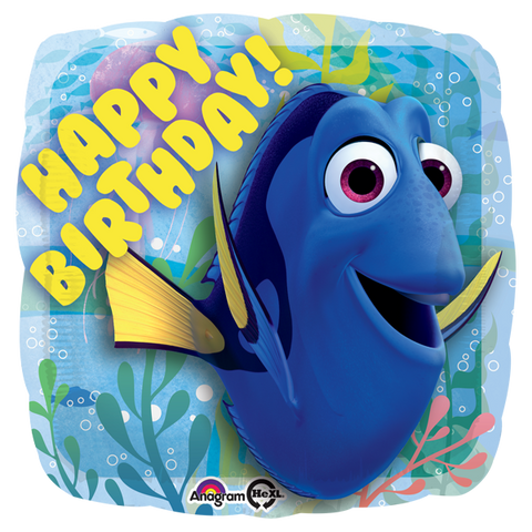 Encontrando a Dory Happy Birthday 18 Pulgadas Globo Metálico