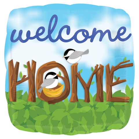 Welcome Home Chickadees 18 Pulgadas Globo Metálico