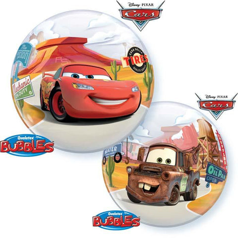 "Globo Burbuja Sencilla de 22"" Cars Qualatex"