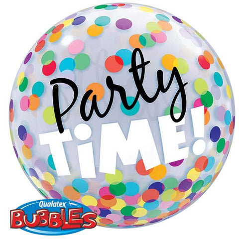 "Globo Burbuja Sencilla de 22"" Party Time Qualatex"