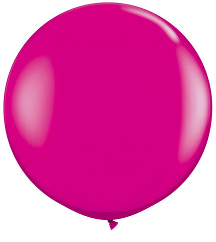 2 x Globos Látex Magenta 3 Pies Qualatex