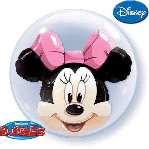 "Globo Burbuja Doble de 24"" Minnie Qualatex"
