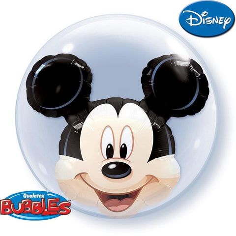 "Globo Burbuja Doble de 24"" Mickey Qualatex"