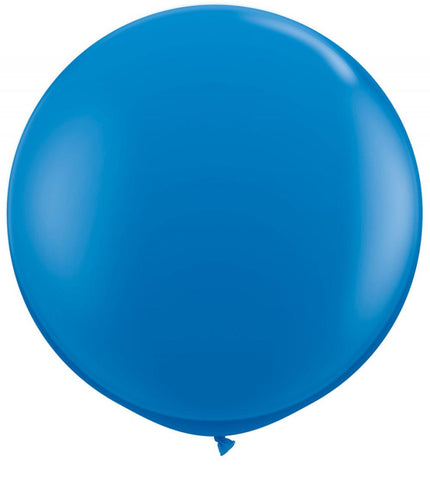 2 x Globos Látex Azul Royal 3 Pies Qualatex