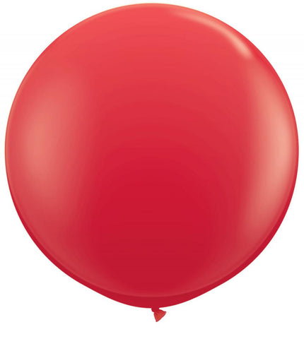 2 x Globos Látex Rojo 3 Pies Qualatex