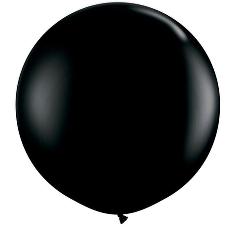 2 x Globos Látex Negro 3 Pies Qualatex