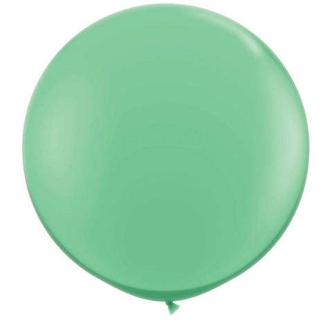 2 x Globos Látex Verde Invierno 3 Pies Qualatex