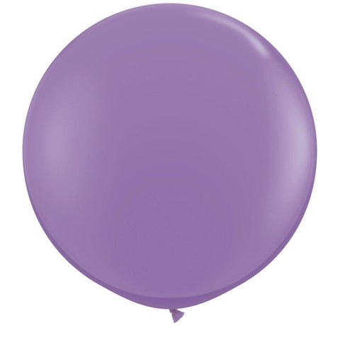 2 x Globos Látex Lila 3 Pies Qualatex