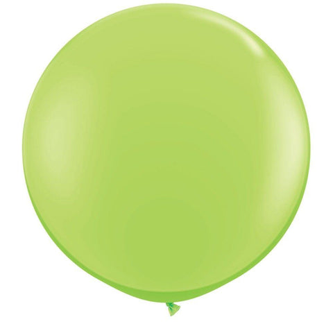2 x Globos Látex Verde Lima 3 Pies Qualatex