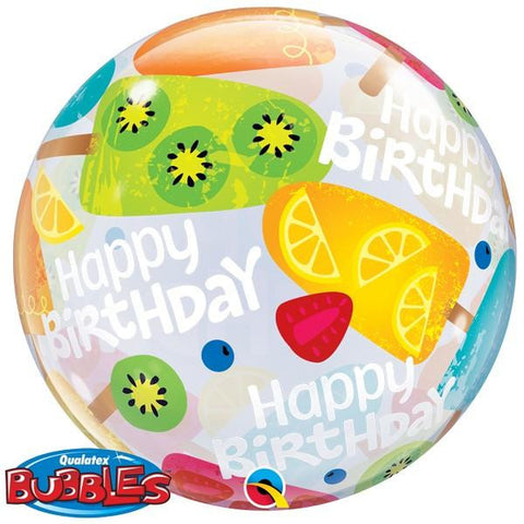 "Globo Burbuja Sencilla de 22"" Birthday Helados Qualatex"