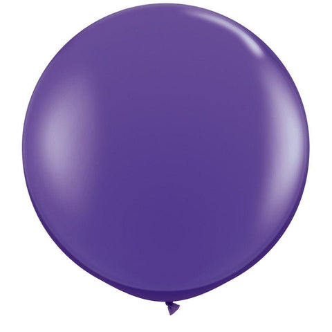 2 x Globos Látex Morado 3 Pies Qualatex