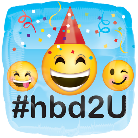 "Emoticons HBD 18"" GM"