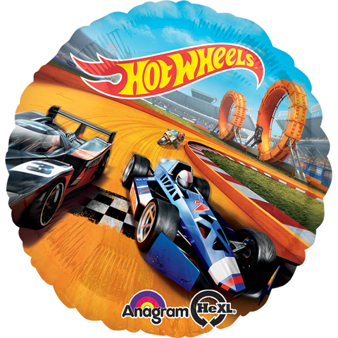 "Hot Wheels 18"" Globo Metálico"