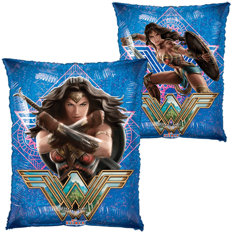 "Wonder Woman Movie Con Escudo 18"" Globo Metálico Holográfico"
