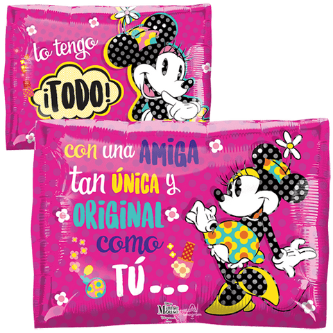 Minnie Amiga Original JuniorShape Globo Metálico