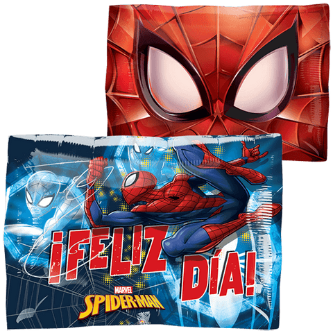 Spiderman Feliz Día JuniorShape Globo Metálico