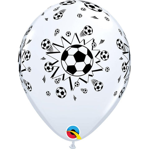 "10 x Globo 11"" Impreso Qualatex Pelotas de Soccer Football 11"""