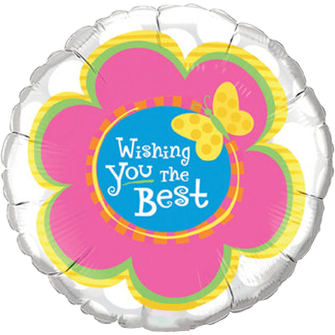 "Globo Metálico 18"" Wishing You The Best-Mariposa"