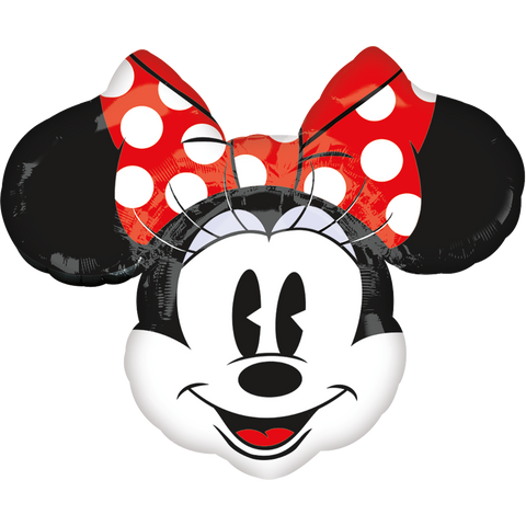 Minnie Head Retro SuperSh Globo Metálico Gellibean
