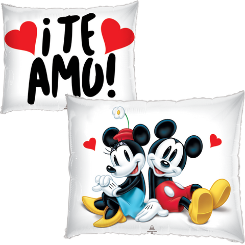 Mickey & Minnie JuniorShape Globo Metálico Gellibean