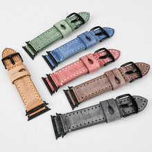 Stitched Leather Smartwatch Band - Apple Watch