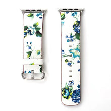 Floral Leather Watch Band Strap - Apple Watch Band Series 3/2/1