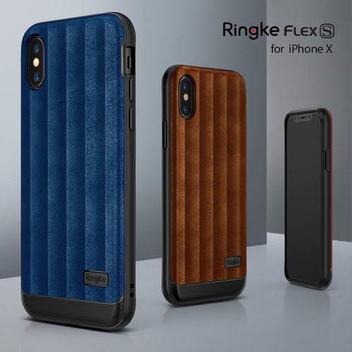 Ringke Flex S Leather Case - iPhone X
