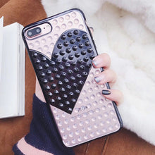 Electroplate Rivet LOVE Heart Cases - iPhone