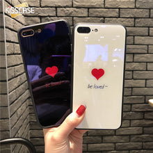 Love Heart Tempered Glass Cases - iPhone